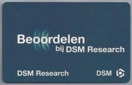 NL.- Telefoonkaart Beoordelen Bij DSM Research. - Telefoonkaarten