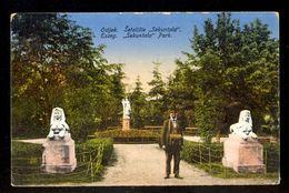 Osijek Setaliste 'Sekuntala' / Postcard Not Circulated, 2 Scans - Croatie
