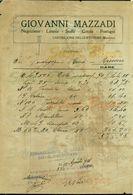 CASTIGLIONE DELLE STIVIERE - FATTURE-GIOVANNI MAZZADI-LANERIE-STOFFE-COTONI-FUSTAGNI-1910 - Italia