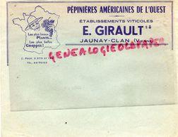 86- JAUNAY CLAN- RARE ENVELOPPE PEPINIERES AMRICAINES DE L' OUEST-E. GIRAULT-VIGNE VIGNERON-AGRICULTURE HORTICULTURE VIN - Agriculture