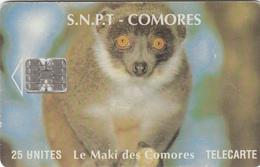 Comores Phonecard - Lemur - Superb Used - Comoros