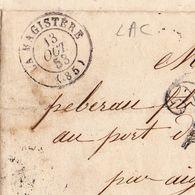 Lettre Avec Correspondance Lamagistère La Magistère 1847 Tarn Et Garonne Agen Damazan - Marcofilie (Brieven)