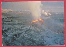 CPSM- ISLAND - ERUPTION VOLCANIQUE - FISSURE DANS LE KRAFLA Le 8 Sept. 1977 _ **-SUP** 2 SCANS - IJsland