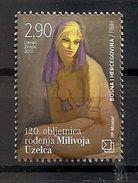 BOSNIA AND HERZEGOVINA  2017,POST MOSTAR,120 YEARS OF BIRTH MILIVOJ UZELAC,PICTURE,PAINTER,,,,MNH - Bosnia Herzegovina
