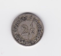 Rare  2 1/2/   Stotinki  Bulgarie   1888   TTB - Bulgarie