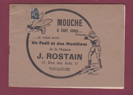 130218 Livret Publicitaire 31 HAUTE GARONNE TOULOUSE Fusil Munitions MAISON ROSTAIN Rue Des Arts Chasse - Sports & Tourisme