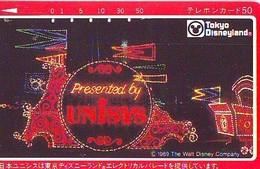 Télécarte Japon -  110-67652 DISNEY DISNEYLAND - UNISYS * Electrical Parade  (6050) Japan Phonecard * Telefonkarte - Disney