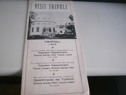 DEPLIANT VISIT TRIPOLI - Dépliants Turistici