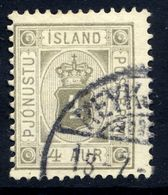 ICELAND 1900 Official 4 Aur., Used.  Michel Dienst 9 - Officials