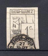 !!! PRIX FIXE : DIEGO SUAREZ N°6 OBLITERE SIGNE CALVES - Used Stamps
