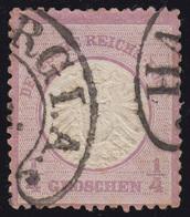16 Brustschild 1/4 Gr. Grauviolett Mit Hufeisen-O HAMBURG, Geprüft BRUGGER BPP - Deutschland