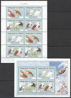 E700 2001 DE GUINEE FAUNA BIRDS EAGLES HUNTERS LES RAPACES 2KB MNH - Aigles & Rapaces Diurnes