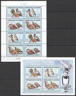 E701 2001 DE GUINEE FAUNA BIRDS EAGLES LES AIGLES 2KB MNH - Aigles & Rapaces Diurnes