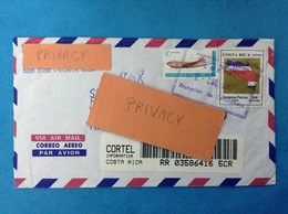 COSTA RICA STORIA POSTALE HISTORY POSTAL LETTER REGISTRATED AIR MAIL - Costa Rica