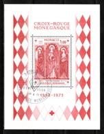Monaco 1973 : Bloc N°7 Avec Timbre Yvert & Tellier N° 933 Et Avec Oblitération 1er Jour. - Blokken