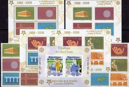 Stamps EUROPA SERBIA 3257/4,VB,Blocks 59/60A/B+Ivoire Bl.169B ** 63€ Blocs M/s History Sheets Bf 50 Years CEPT 2006 - Timbres