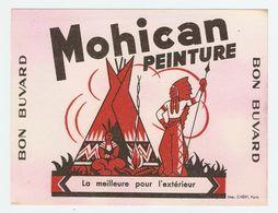 BUVARD PEINTURE MOHICAN - TENTE INDIEN - Peintures