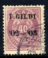 ICELAND 1902 I GILDI Overprint On 40 Aur. Perforated 14:13½ Used.  Michel 32A - 1873-1918 Danish Dependence