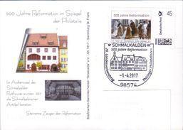 Deutschland SSt. Schmalkalden '500 J. Reformation' / Germany Pmk. '500th Ann. Of Reformation' 2017 - Christentum