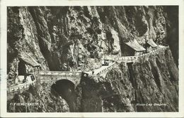 AK Flexenstraße Vorarlberg + Oldtimer 1935 Bahnpost In D #03 - Otros