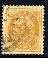 ICELAND 1901 Definitive 3 Aur. With Large 3, Used.  Michel 22 - 1873-1918 Danish Dependence