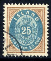 ICELAND 1901 Definitive 25 Aur., Used.  Michel 21 - 1873-1918 Danish Dependence