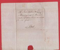 Plis /  De Brest / Pour Paris - Marcophilie (Lettres)