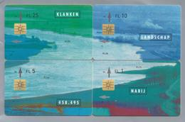 NL.- 4 X Telefoonkaart. KPN Telecom. Telekom Telefonkarte. .1, 5, 10 En 25 Gulden. KLANKEN - LANDSCHAP - RIJN - NABIJ. - Ontwikkeling