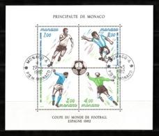 Monaco 1982 : Bloc N°21 Avec Timbres Yvert & Tellier N° 1312 - 1313 - 1314 Et 1315 Et Avec Oblitérations Rondes. - Blokken