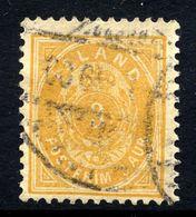 ICELAND 1897 Definitive 3 Aur. Perforated 12¾ , Used.  Michel 12B - 1873-1918 Danish Dependence