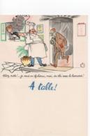 Cpa.VieuxPapiers.Menus.Menu à Table Illustration Jean Bellus.Humour.Publicité Laboratoire Le Brun Cuisto Et Homme Vert - Menus