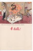 Cpa.VieuxPapiers.Menus.Menu à Table Illustration Jean Bellus.Humour.Publicité Laboratoire Le Brun Danseuse Espagnole - Menus