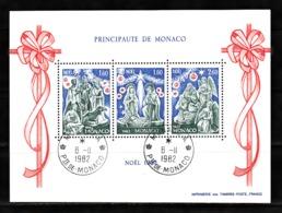Monaco 1982 : Bloc N°23 Avec Timbres Yvert & Tellier N° 1352 - 1353 Et 1354 Et Avec Oblitérations Rondes. - Blokken