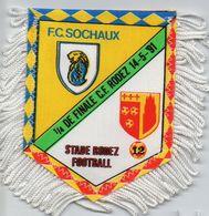 Fanion De Coupe De France 1991 FC SOCHAUX / RODEZ - Habillement, Souvenirs & Autres