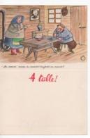 Cpa.VieuxPapiers.Menus.Menu à Table Illustration Jean Bellus.Humour.Publicité Laboratoire Deux Russes Et Caviar - Menus