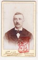 Cabinet Card - Carte De Visite Homme Man / Photografie Fotografie F. Buyle Sint-Niklaas Lokeren BE / 1880-1890 - Photos