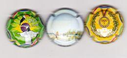 3 Capsules Muselets 1 Vouvray Cancen Val De Loire Avec URL  2 Vouvray Jeux Olympiques - Capsules & Plaques De Muselet
