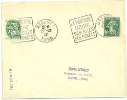 TARN - Dépt N° 81 = MAZAMET 1927 =  FLAMME SUPERBE =  DAGUIN ' MONTAGNE NOIRE / SITES / FORETS ' - Marcophilie (Lettres)
