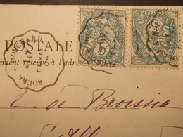 Marcophilie  Cachet Lettre Obliteration - Convoyeur Bourg à Mouchard - 1904 (1731) - Marcophilie (Lettres)