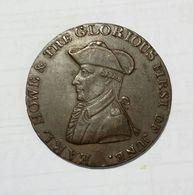 United Kingdom - Admiral EARL HOWE - HALF Penny Token ( GLORIOUS FIRST OF JUNE 1794 )  / Copper - Monetari/ Di Necessità