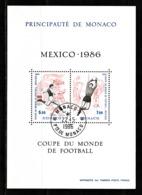 Monaco 1986 : Bloc N°35 Avec Timbres Yvert & Tellier N° 1528 Et 1529 Et Avec Oblitérations Rondes. - Blokken
