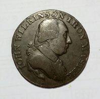 United Kingdom - John WILKINSON IRON MASTER - HALF Penny Token ( 1793 )  / Copper - Monetari/ Di Necessità
