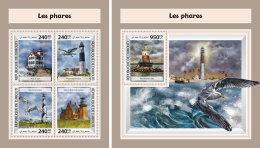 DJIBOUTI 2017 ** Lighthouses Leuchttürme Phares Birds M/S+S/S - OFFICIAL ISSUE - DH1746 - Leuchttürme