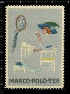 German Poster Stamp, Stamps, Reklamemarke, Cinderellas, Marco Polo Tea, Tee, Parrot, Bird, Papagei, Vogel - Parrots