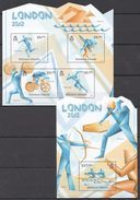 A662 2012 SOLOMON ISLANDS SPORT OLYMPIC GAMES LONDON 2012 KB+BL MNH - Sommer 2012: London