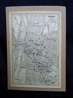 Plan Ancien De La Ville De COGNAC, ( CHARENTE ), Datant De 1922. - Cartes Géographiques
