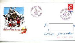 Pap Euro Cachet Saint Louis  Voeux Illustré Alsacien En Luge - Entiers Postaux