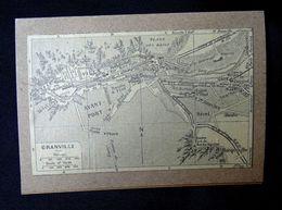 Plan Ancien De La Ville De GRANVILLE ( MANCHE ), Datant De 1949. - Cartes Géographiques