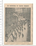 Presse 1912 Manifestants Vers Bar-sur-Aube Manifestation Vignerons Champenois Vin De Champagne Viticulture 216CHV1 - Non Classificati