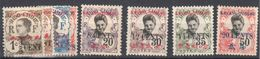 Indochine Lot Mh * 8 Stamps Kuang Tcheou Post Office 18 Euros 1919 - Unused Stamps